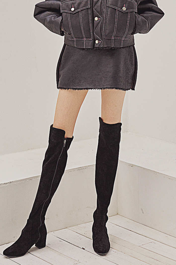 Eco-Shearling skirt