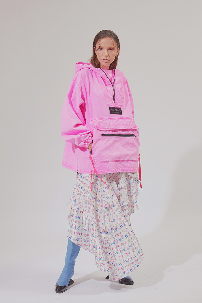 Garment Washing Anorak_Pink