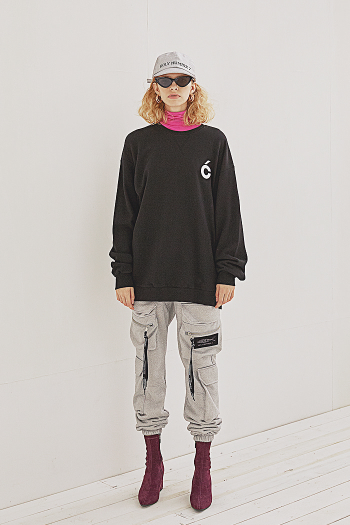 C sweat-shirt_BLACK