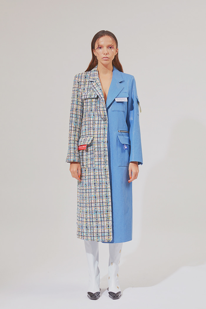 half-and-half Holy Long Coat