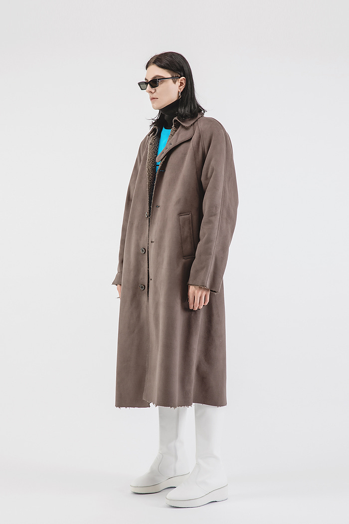 Eco-LONG Shearling coat