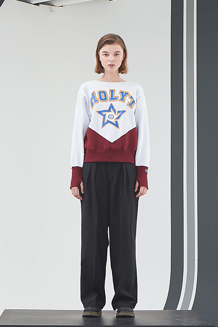 HOLY STAR SWEATSHIRT_WINE