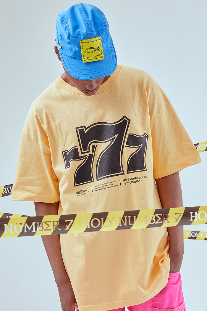 Holy 777 Printing T-SHIRTS_ORANGE