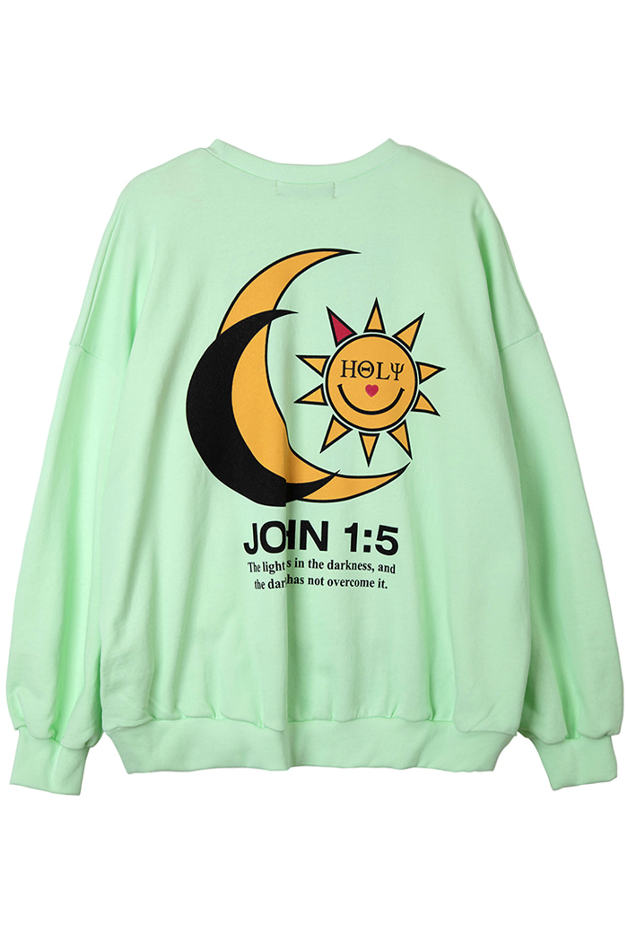 SUNLIGHT MOON WASHING SWEAT SHIRT_lime