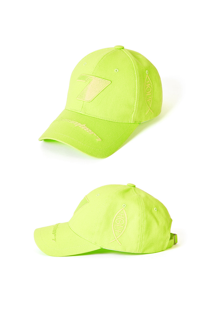 Seven Ball Cap-Neon Yellow