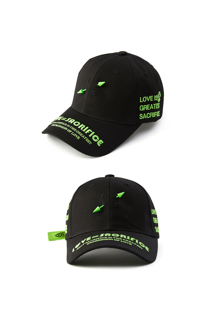 LOVE SACRIFICE ball cap_Black/Green