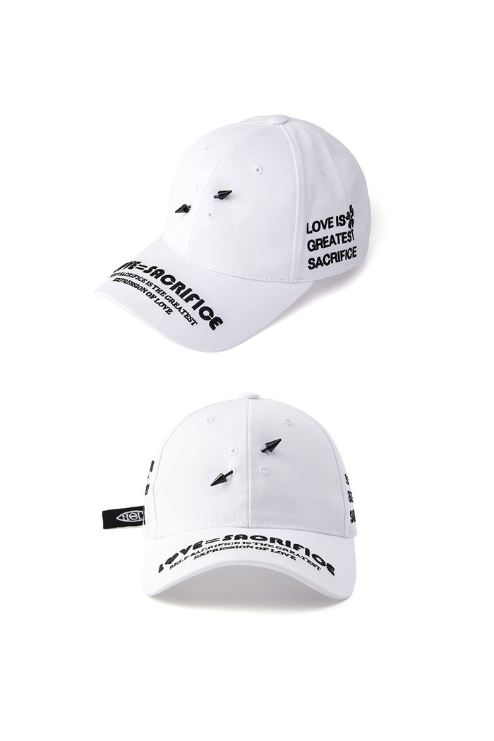 LOVE SACRIFICE ball cap_White/Black