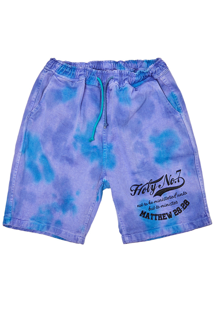 Big logo half pants_Tie dye