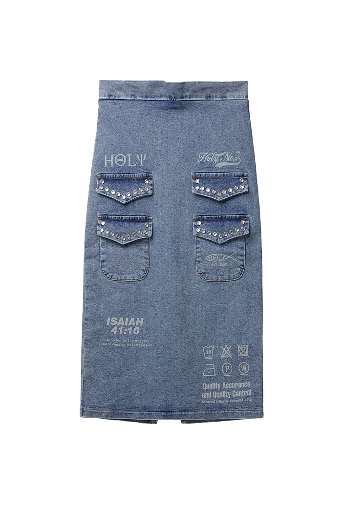 Twinkle Pocket Denim Skirt
