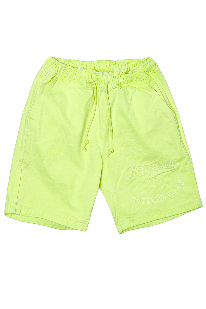 Big logo half pants_Neon