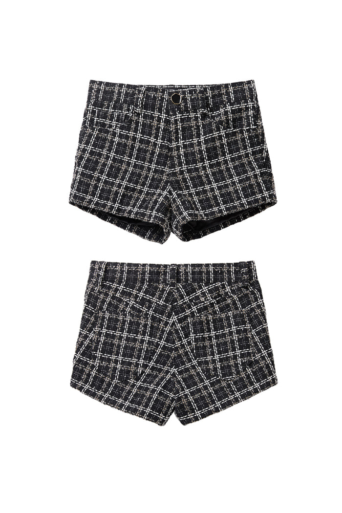 Micro Tweed Shorts_black