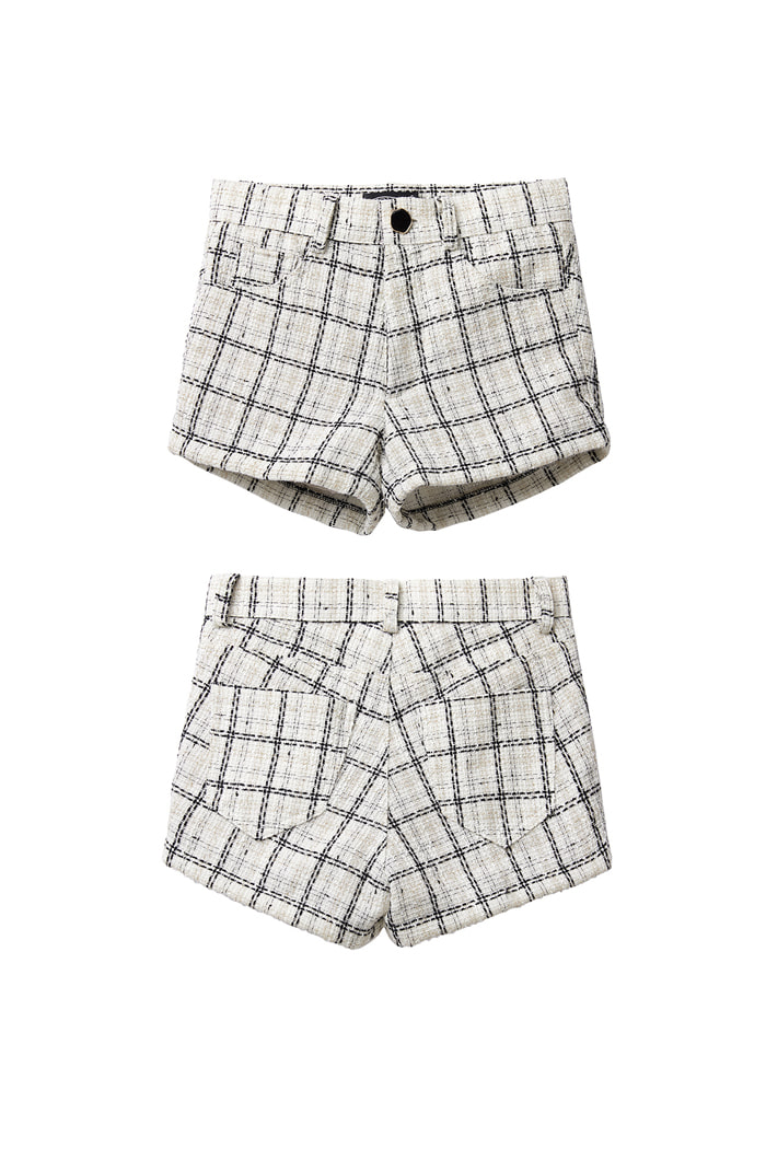 Micro Tweed Shorts_ivory