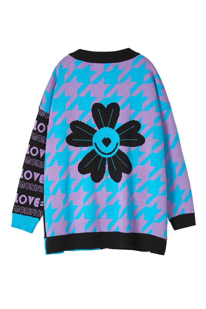 OVER-FIT LOVE Cardigan_Blue