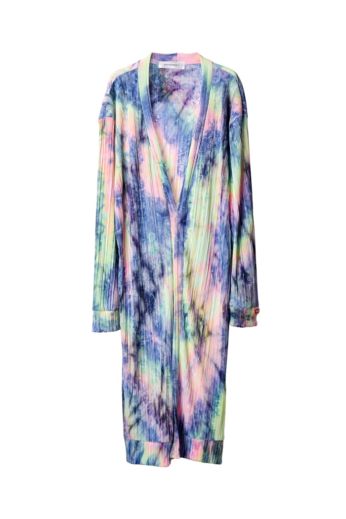 Tie dye Robe Long Cardigan_BLUE