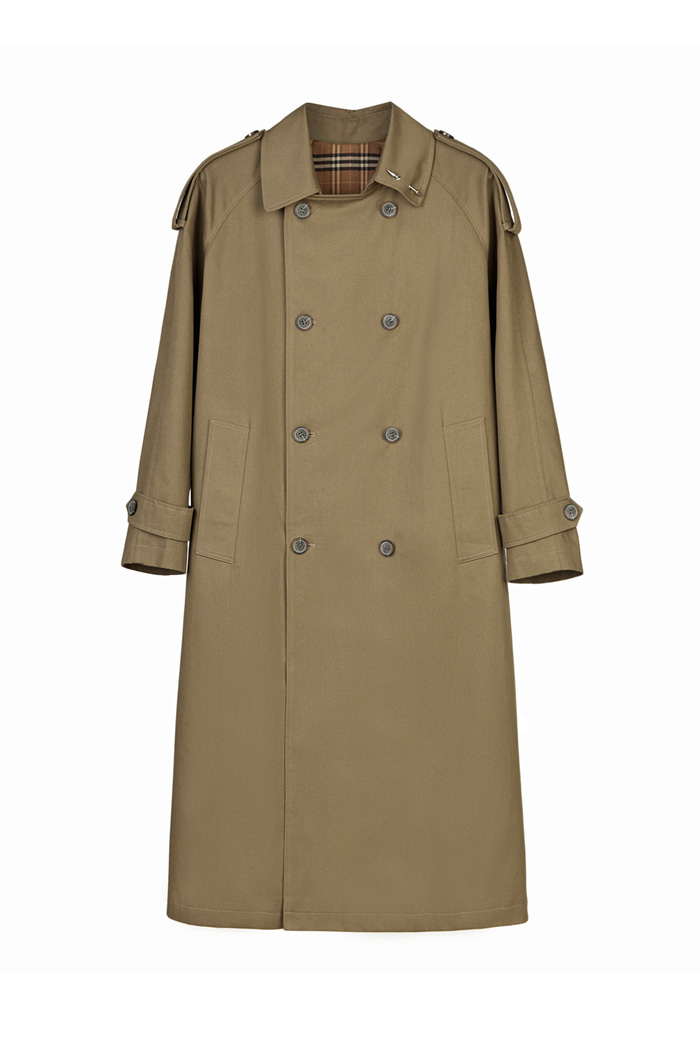 Signature OVERFIT TRENCH COAT_Dark beige