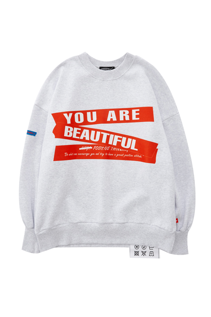 """YOU ARE BEAUTIFUL"" SWEATSHIRT_OATMEAL"