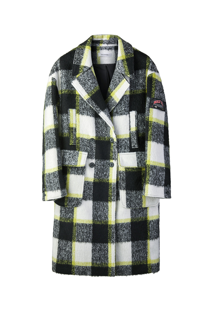 Mohair yellow  check coat