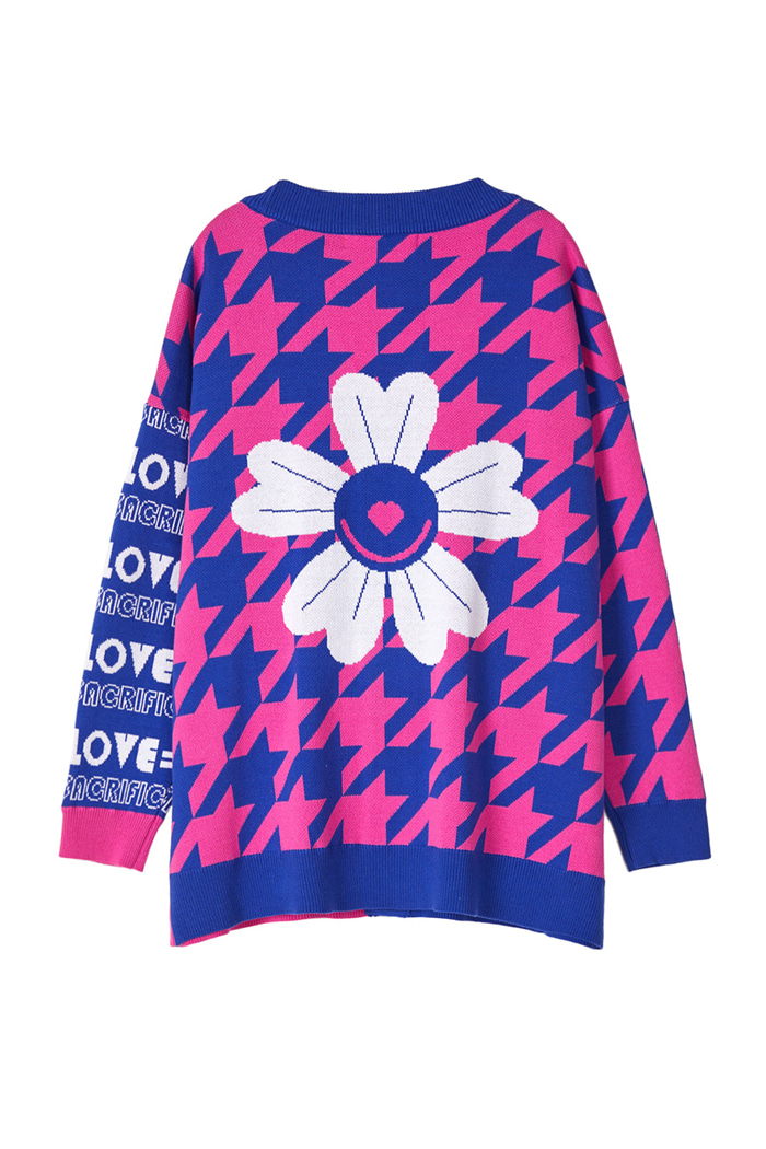 OVER-FIT LOVE Cardigan_Pink