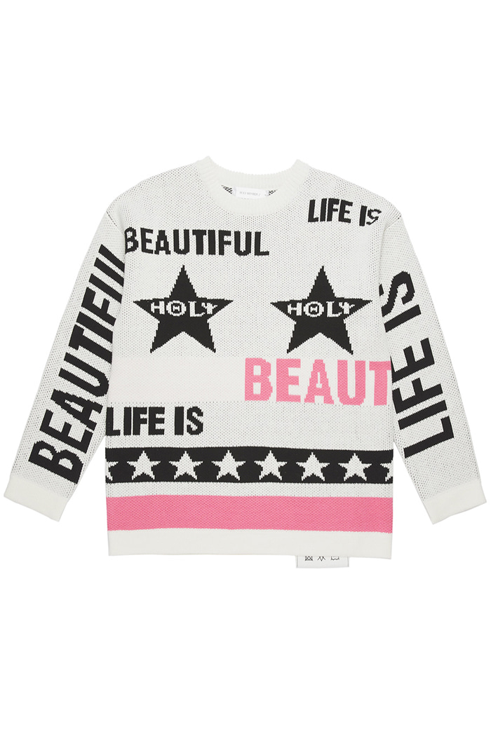 Life is Beautiful knit_white