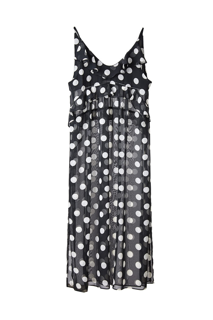 CHIFFON DOT Long OPS_BLACK