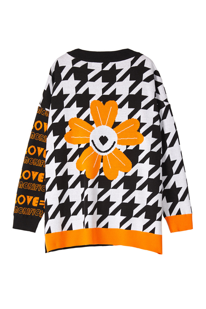 OVER-FIT LOVE Cardigan_Orange