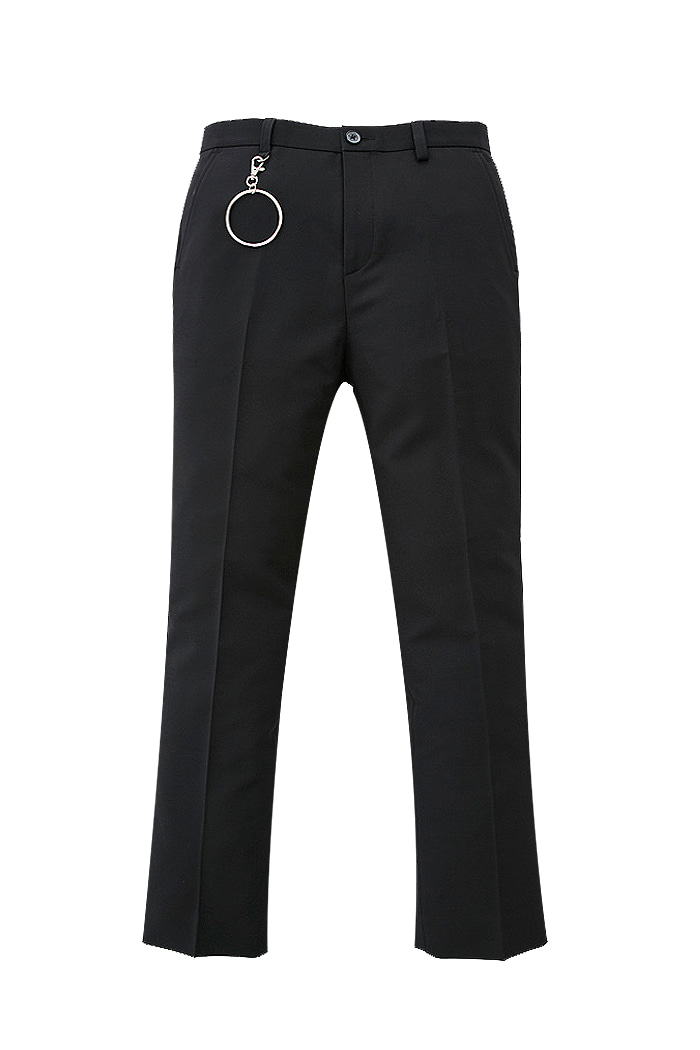 Black Holy Long Wide Slacks