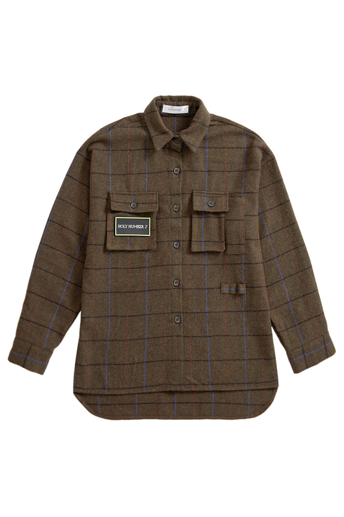 Check Wool Shirt Design jacket