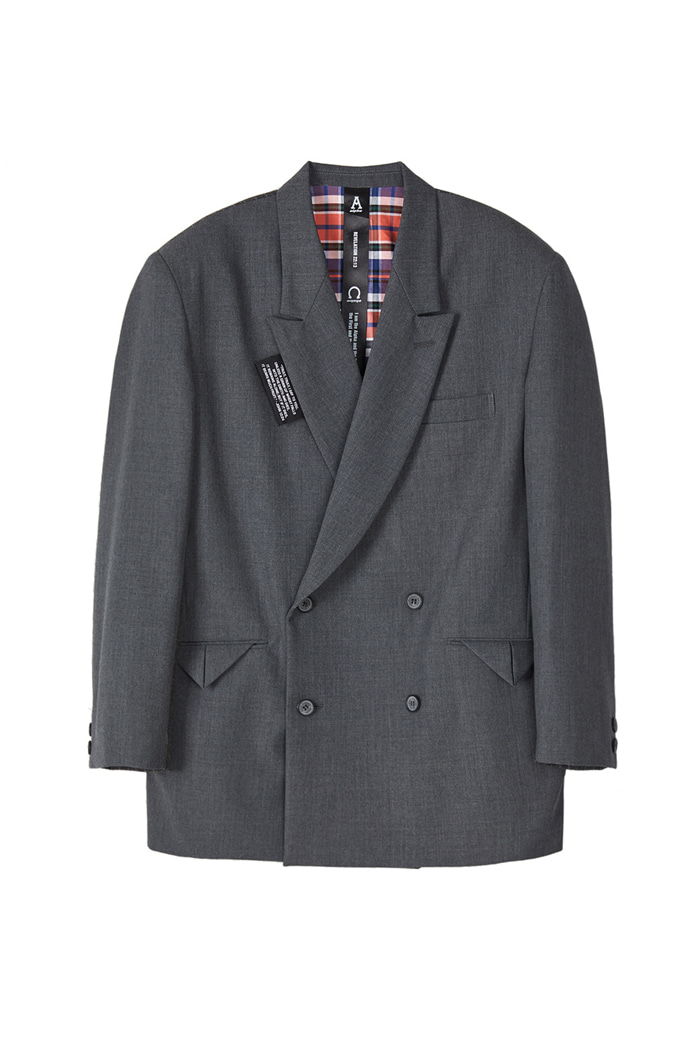 DOUBLE BREASTED BLAZER_Grey