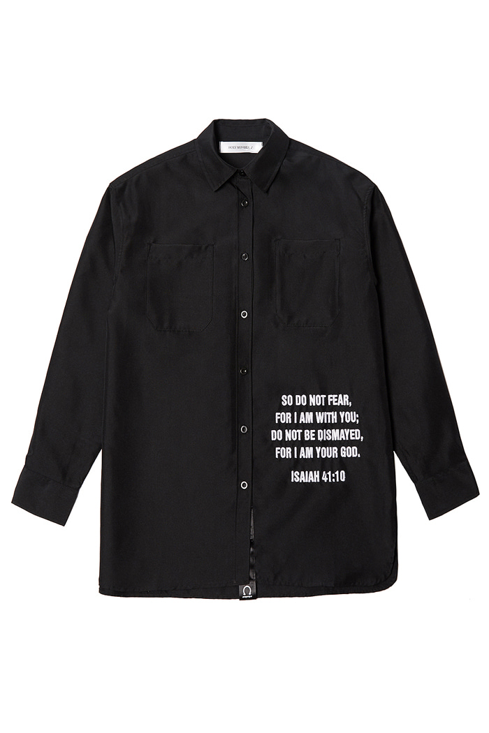 Overfit Embroidery Shirt_black
