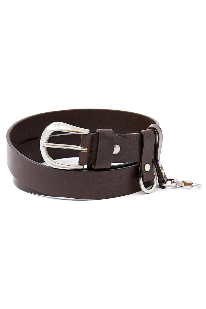 Italian Vera Pelle Cow Leather Belt_BROWN
