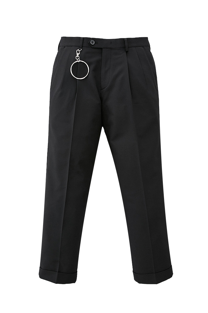 Black Holy one tuck pants_M[박해진 착용]