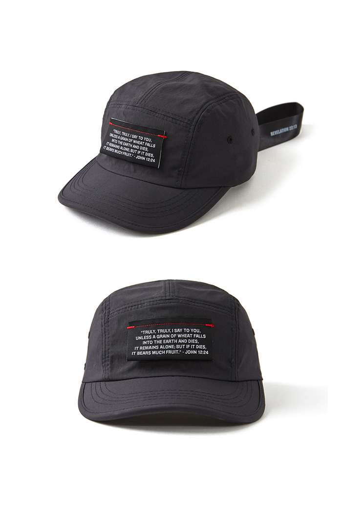 Label Cover Camp Cap_BLACK