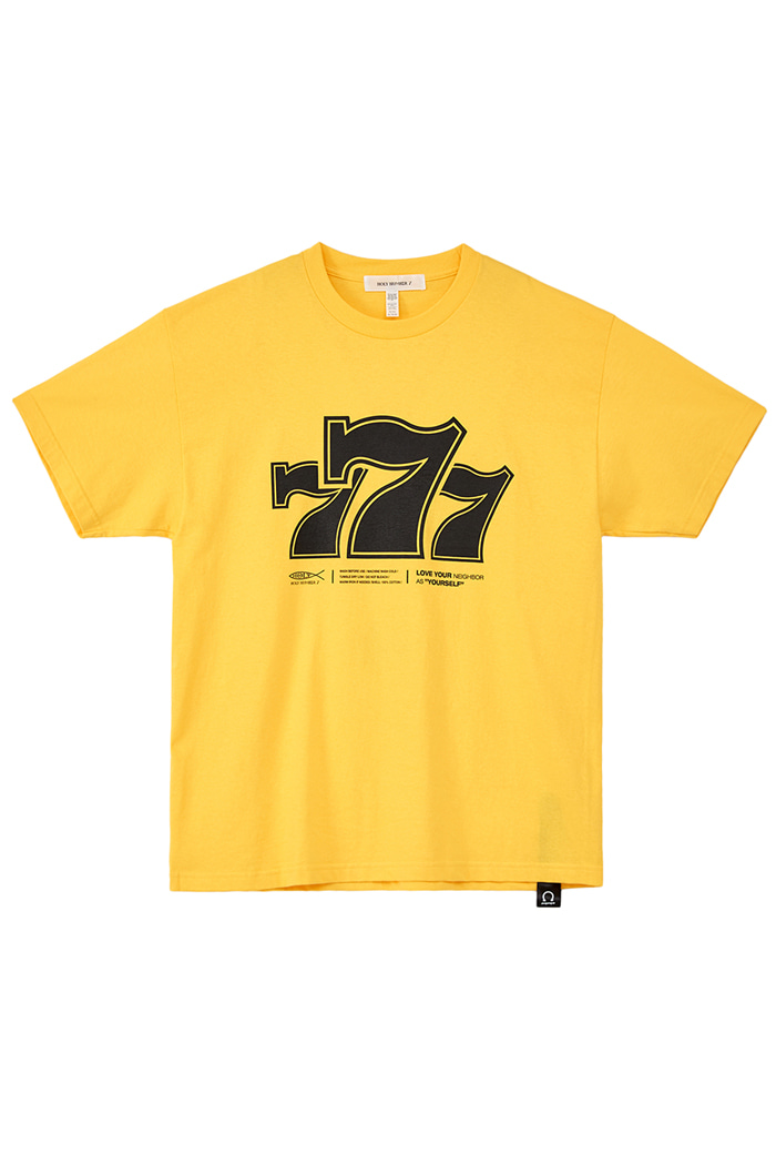 Holy 777 Printing T-SHIRTS_YELLOW
