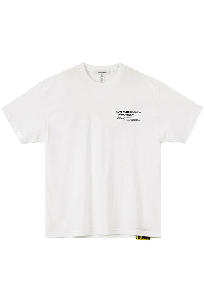 [Over-fit] twist logo half-sleeve_WHITE