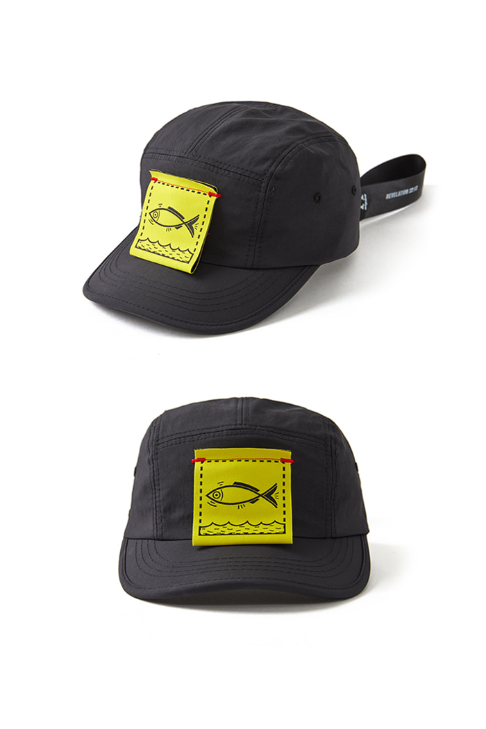 Fish Cover Camp Cap_BLACK