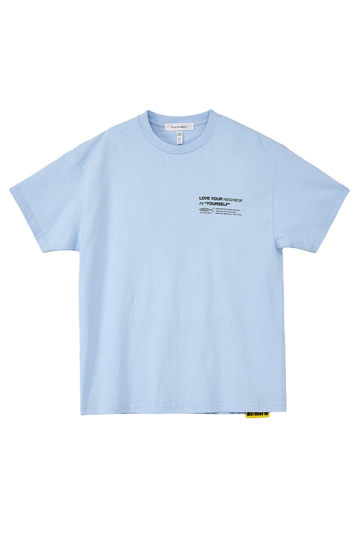 [Over-fit] twist logo half-sleeve_SKY BLUE