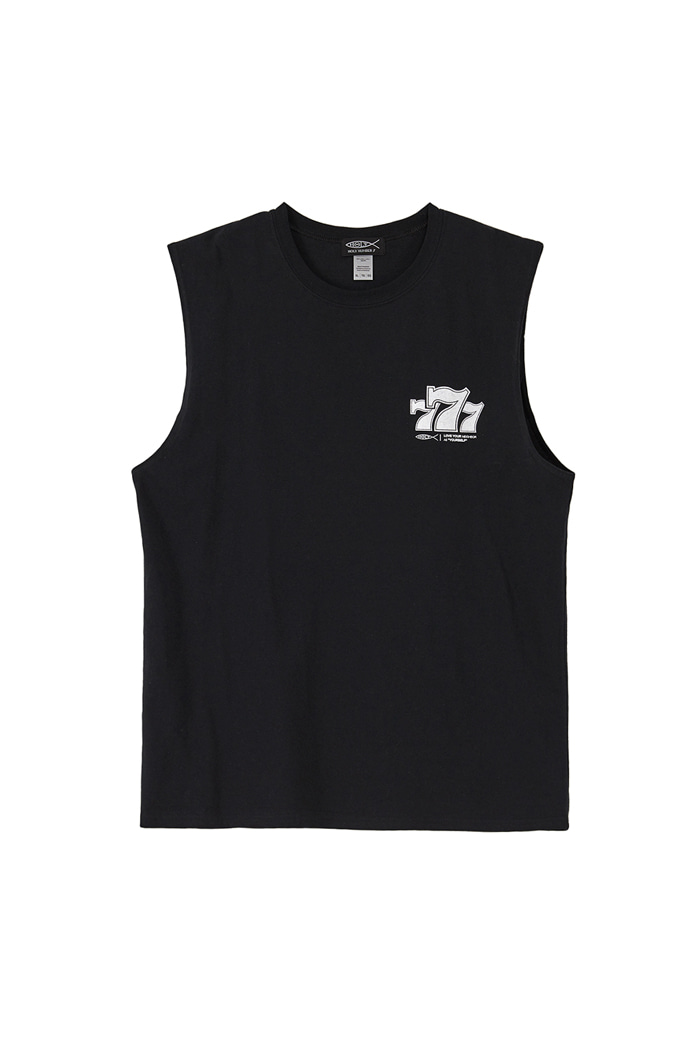 777 PIPING POINT SLEEVELESS T_BLACK