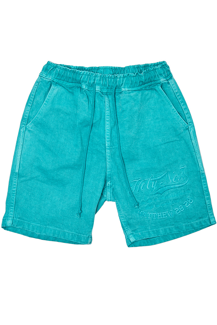 Big logo half pants_GREEN