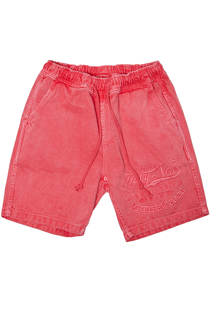Big logo half pants_RED