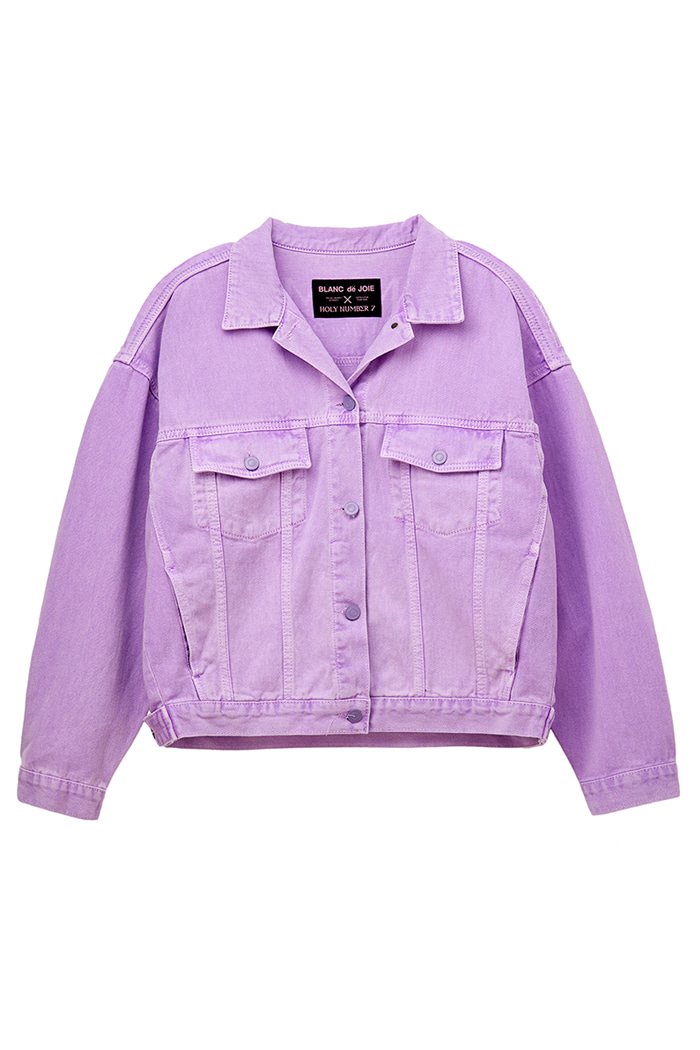 GARMENT-DYED TRUCKER JACKET_violet
