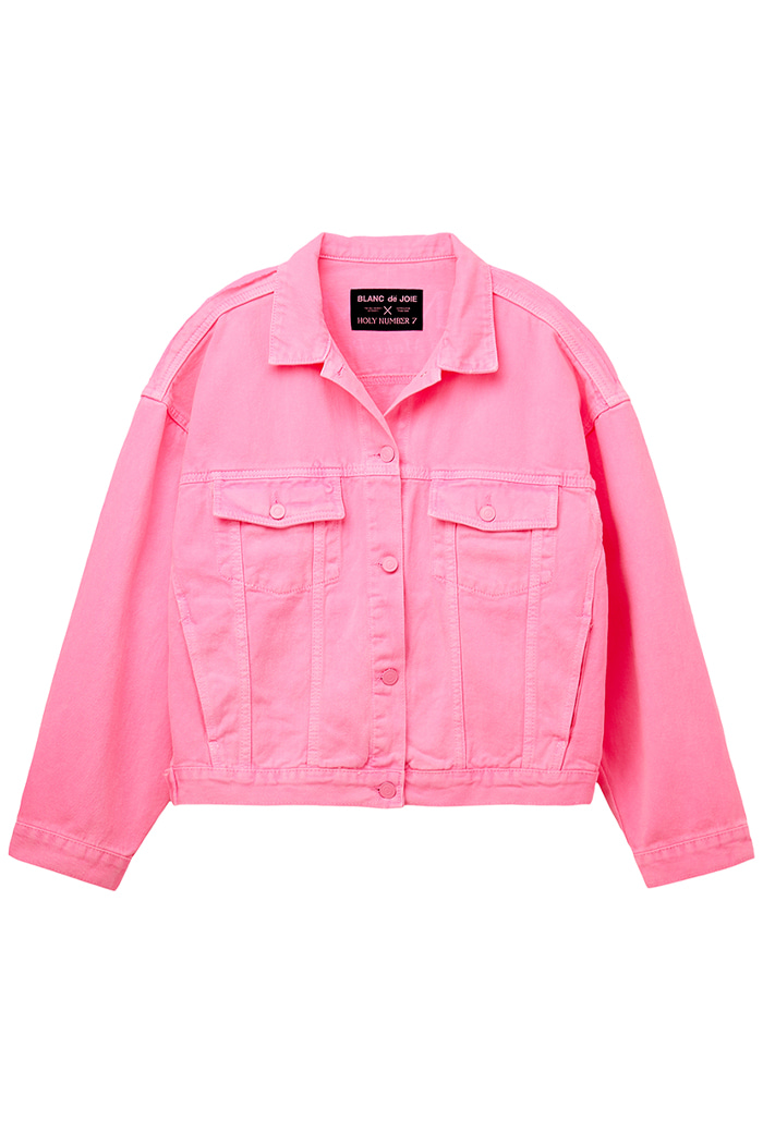 GARMENT-DYED TRUCKER JACKET_pink