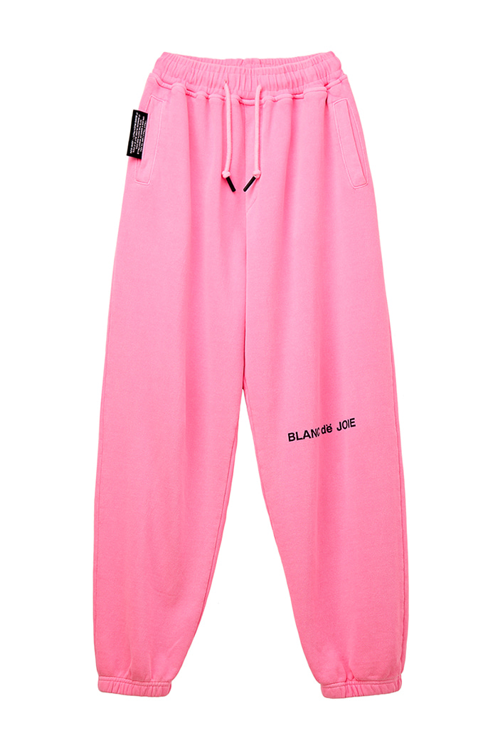 GARMENT-DYED TRAINING PANTS_pink
