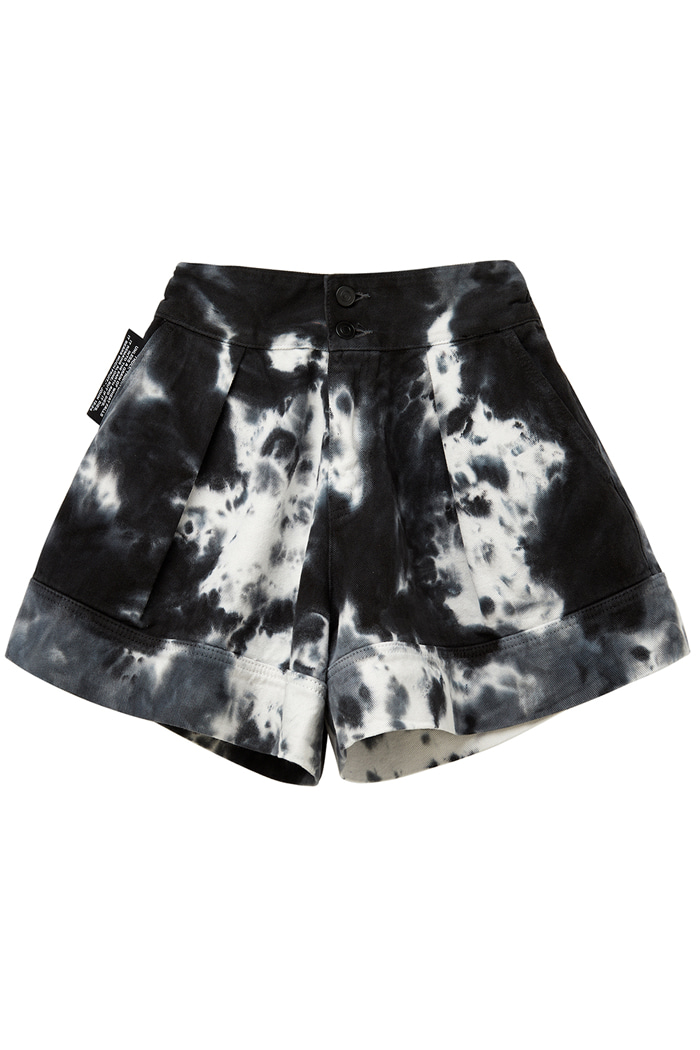 GARMENT-DYED SHORT PANTS_Tie die