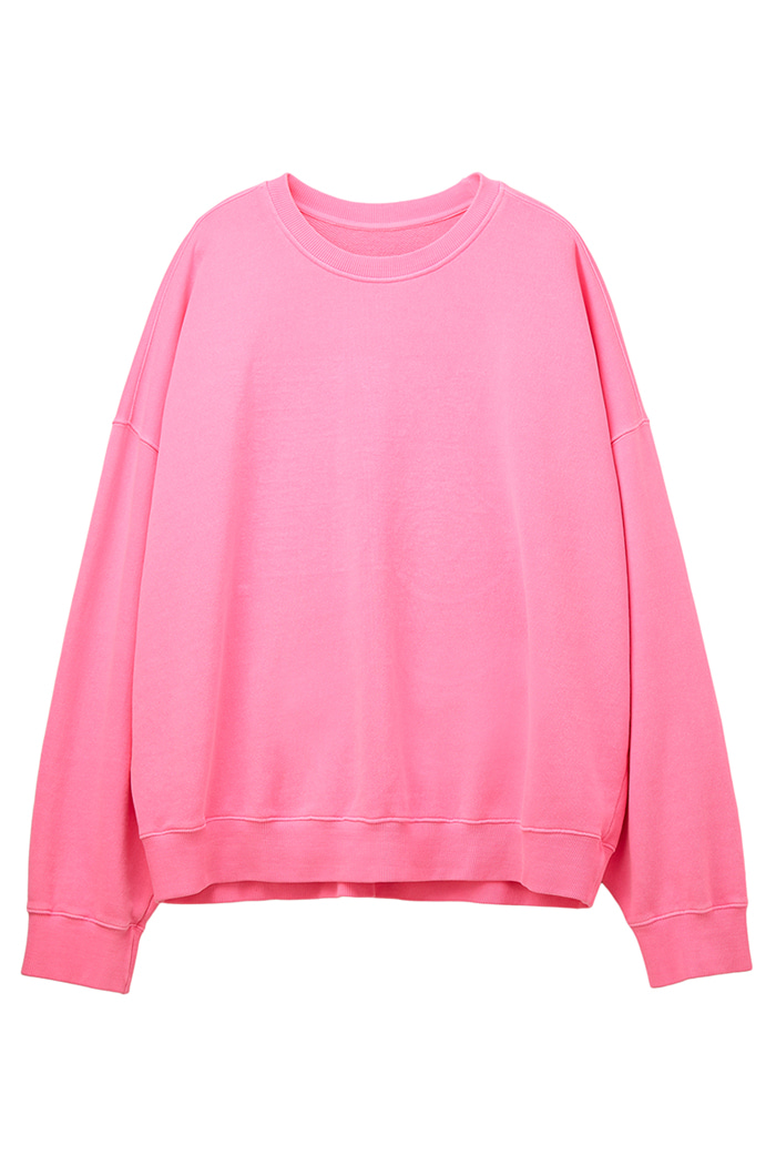 REVERSIBLE GARMENT-DYED SWEATSHIRT_pink