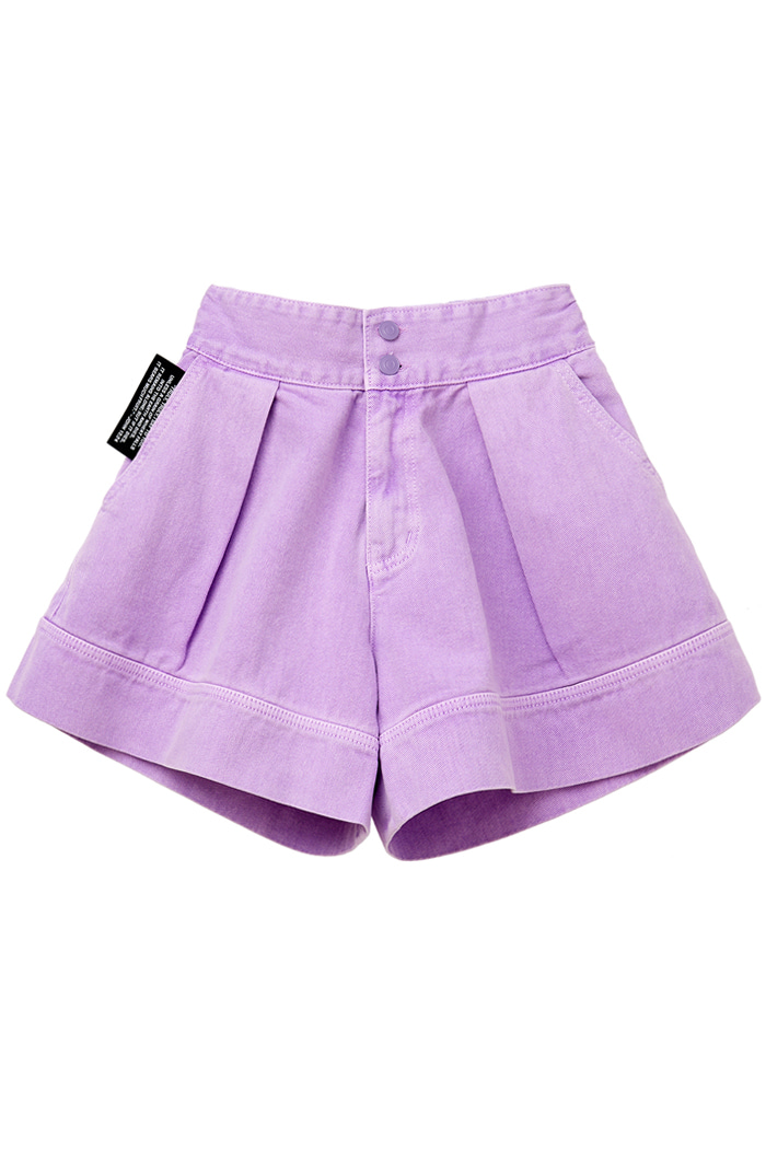GARMENT-DYED SHORT PANTS_violet