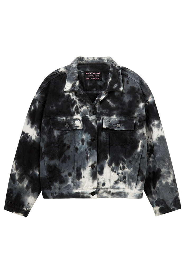 GARMENT-DYED TRUCKER JACKET_Tie die