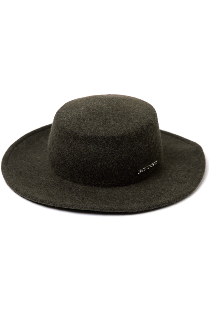 HOLY silver lettering Simple Fedora_BROWN
