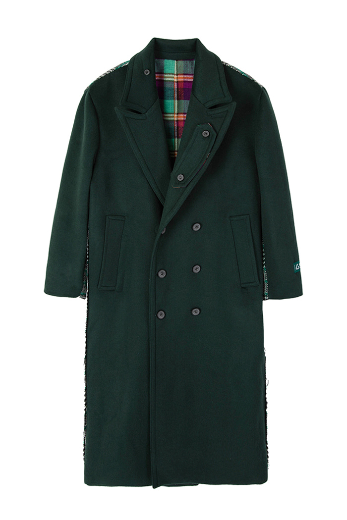 REVERSIBLE OVER-FIT DOUBLE WOOL COAT_GREEN리버시블 오버핏 더블 울 코트_그린